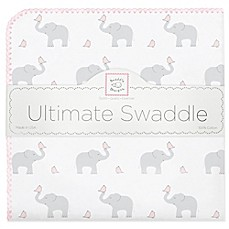 image of Swaddle Designs® Elephant & Chicks Ultimate Swaddle in Pink