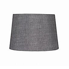 image of 9inch linen hardback drum lamp shade in grey - Large Lamp Shades