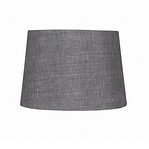 Buy 9 Inch Linen Hardback Drum Lamp Shade In Grey From Bed