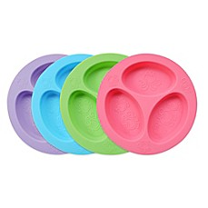 image of oogaa® 4 oz. Silicone Divided Plate