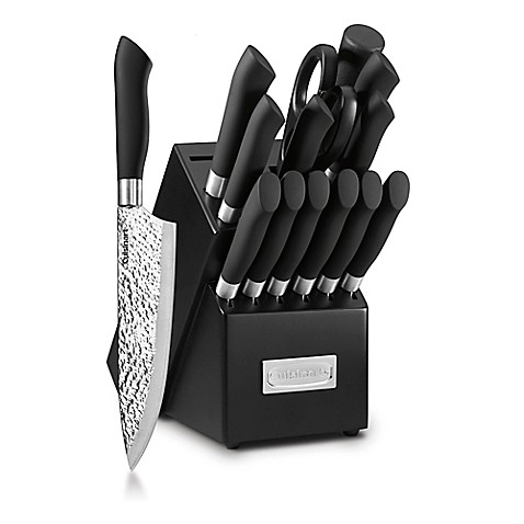 Cuisinart® Classic 15-Piece Stainless Steel Cutlery Block Set