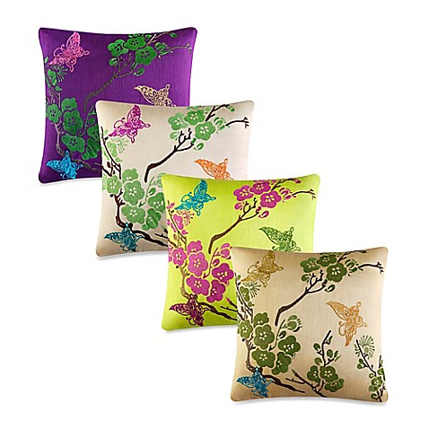 Queen Street Decorative Pillows : J by J. Queen New York Carla Square Throw Pillow - Bed Bath & Beyond