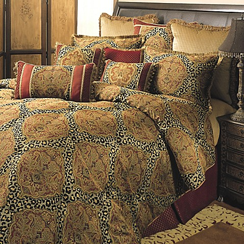 Sherry Kline Regal Comforter Set In Red Gold Bed Bath