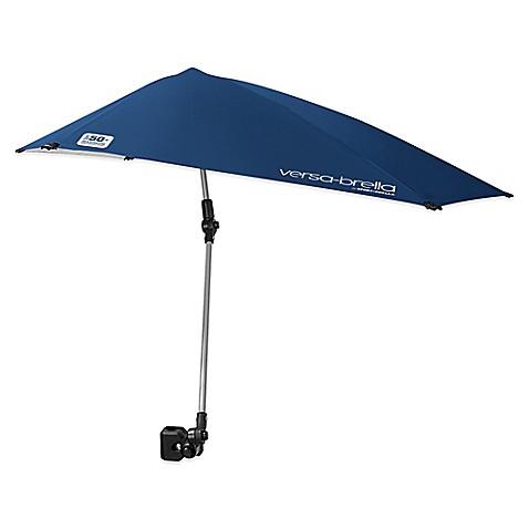 Sport Brella Versa All Position Beach Umbrella With Universal Clamp In Blue