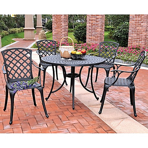 crosley sedona cast aluminum outdoor patio furniture collection bed