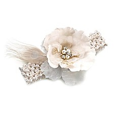 image of Lillian Rose™ Burlap and Lace Garter