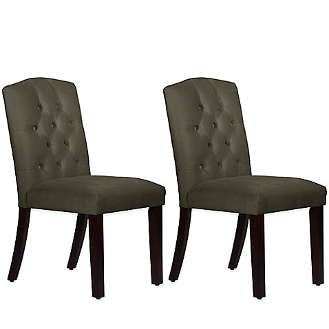 Skyline Furniture Denise Tufted Arched Dining Chairs In