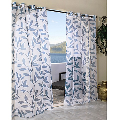 Commonwealth Home Fashions Escape Grommet Top Sheer Leaf