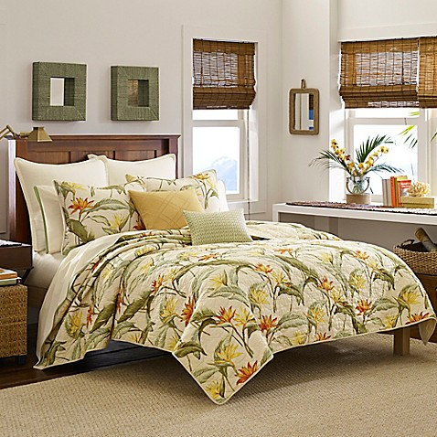 Tommy Bahama® Birds of Paradise Quilt in Coconut - Bed Bath & Beyond