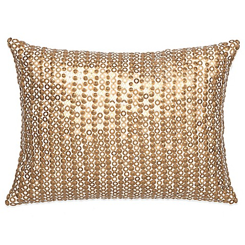 Buy Amy Sia Midnight Storm Sequin Oblong Throw Pillow in Gold from Bed Bath & Beyond