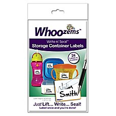 image of Whoozems™ 24-Pack Write n' Seal™ Storage Container Labels