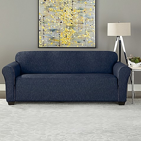 Sure Fitu0026reg; Designer Denim Furniture Slipcover