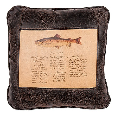 Decorative Pillow Guide : Sweetwater Trading Company Trout Guide Square Throw Pillow in Brown - Bed Bath & Beyond