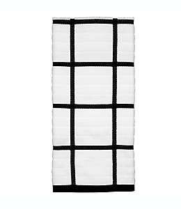 Toalla de cocina a cuadros All-Clad®, en negro