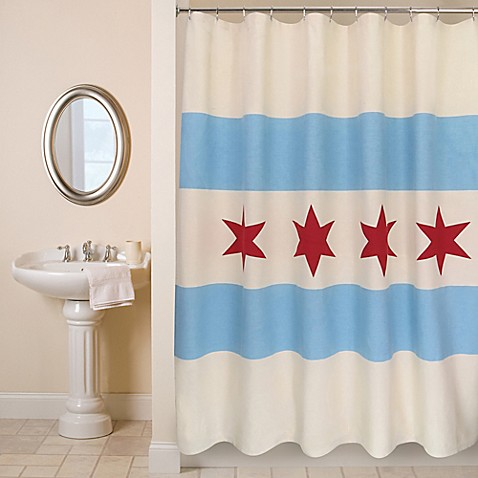 Curtains Ideas bed bath and beyond bathroom curtains : Park B. Smith® Chicago Flag Shower Curtain - Bed Bath & Beyond