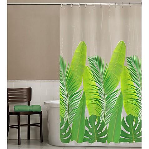 Peva Tropical Leaf Shower Curtain Bed Bath Amp Beyond