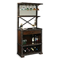 image of Howard Miller Red Mountain Wine & Bar Cabinet in Rustic Hardwood