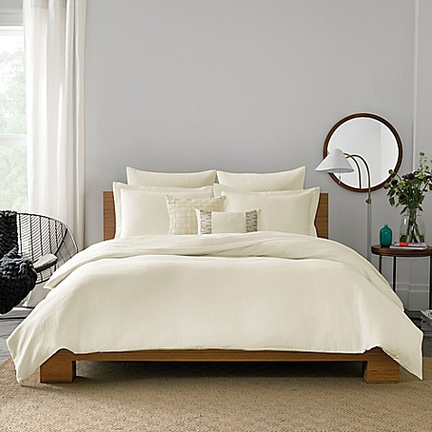Real Simple 174 Lattice Duvet Cover Bed Bath Amp Beyond
