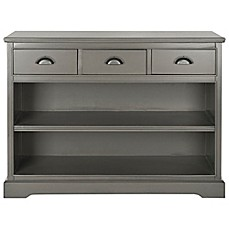 image of safavieh prudence bookcase in grey - Folding Bookcase