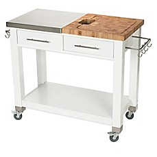 image of chris u0026 chris pro chef kitchen island work station in white