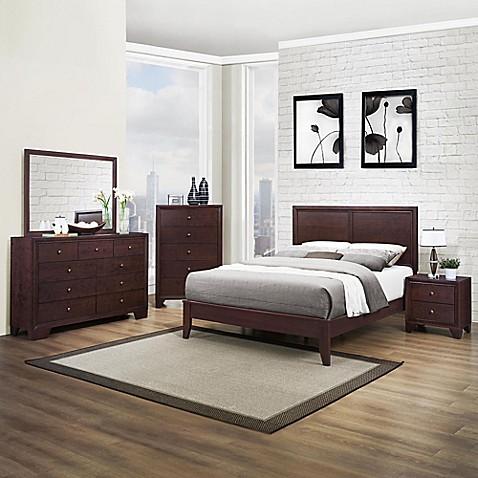 verona home mckinley queen 5 piece bedroom set bed bath