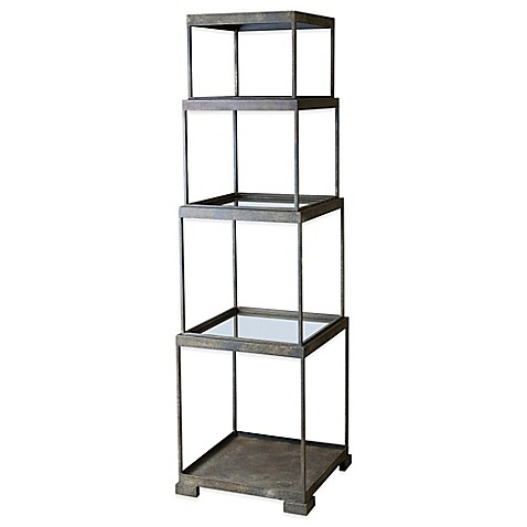 Buy uttermost friedman metal etagere from bed bath beyond - Etagere modulable metal ...