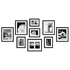 image of swing design 9 piece frame gallery in black