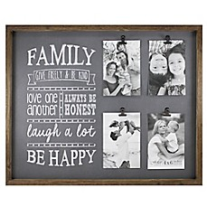 image of fetco home dcor abbott 4 photo family collage frame
