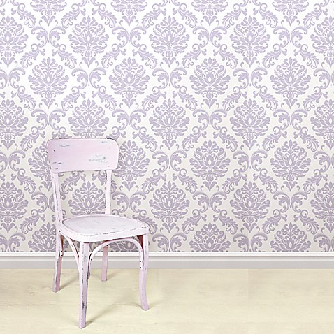 Stick On Wall Paper wallpops!® nuwallpaper™ ariel peel & stick wallpaper in purple