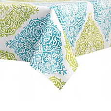 Image Of J. Queen New York™ Roma Tablecloth In Aqua