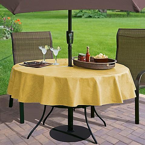 Buy Monterey 70 Inch Round Umbrella Vinyl Tablecloth In