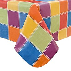 image of Summer Check Vinyl Tablecloth