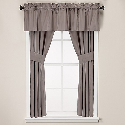 Wamsutta classic stripe 14 inch window valance bed bath for 14 inch window