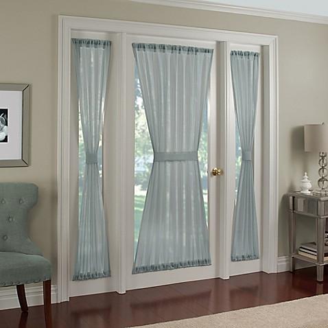 buy crushed voile rod pocket 40 inch door panel in spa from bed bath beyond. Black Bedroom Furniture Sets. Home Design Ideas