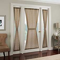 Image Of Crystal Brook Door Panel  Curtains For French Doors