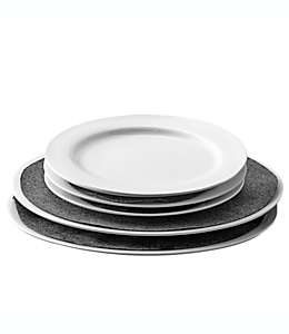 Separadores de platos .ORG™, en gris, 48 piezas