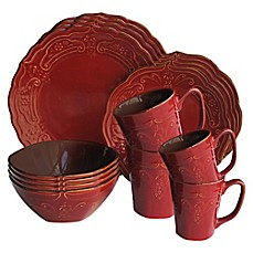 image of American Atelier Napa 16-Piece Dinnerware Set in Red