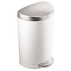Image Of Simplehuman® Stainless Steel Semi Round 10 Liter Step On Trash