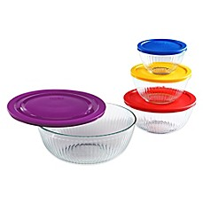 image of Pyrex® 8-Piece Sculpted Mixing Bowl Set