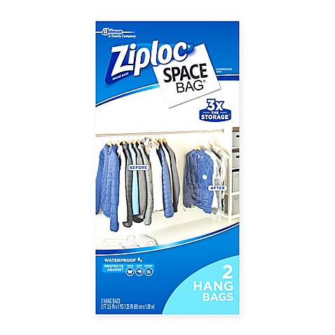 Ziplocu0026reg; Space Bagu0026reg; 2 Pack Vacuum Seal Hanging Bag