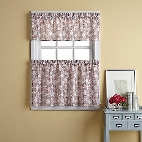 Buy Palmer 36 Inch Window Curtain Tier Pair In Spice From Bed Bath Beyond