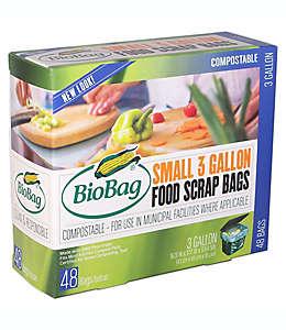 Bolsas compostables BioBag® para desperdicios de comida de 11.35 L, Set de 48