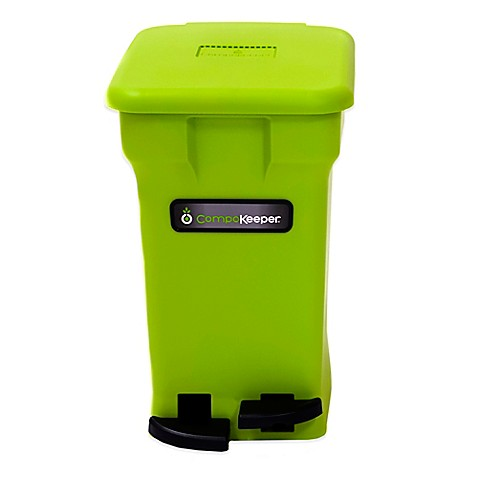 Buy compokeeper 6 gallon compost bin in green from bed for Green bathroom bin