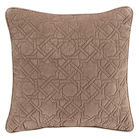 Throw Pillows Taupe : Shelby Square Throw Pillow in Taupe - Bed Bath & Beyond