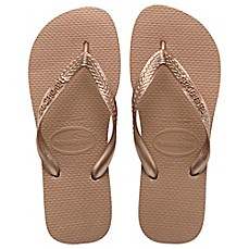 image of Havaianas® Top Metallic Women's Sandal in Rose Gold