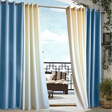 image of home fashions gazebo outdoor curtain