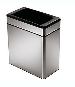 Bote de basura abierto de acero inoxidable Simplehuman®, 10 L