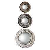 Wall Mirror Set uttermost adelfia 3-piece round wall mirror set - bed bath & beyond