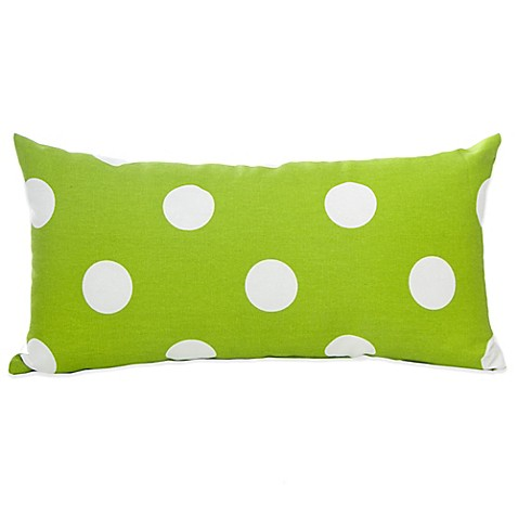 Green Rectangle Throw Pillow : Decorative Pillows > Glenna Jean Ellie & Stretch Rectangle Throw Pillow in White/Green from Buy ...