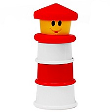 image of Sassy® 4-Piece Light-Up Lighthouse Bath Toy in Red/White